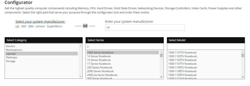 2 Memory4less RAM Memory Configurator