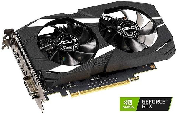 DUAL-GTX1650-O4G ASUS Nvidia GeForce GTX 1650 4GB GDDR5 Graphics Card