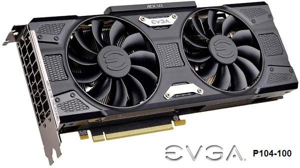 4G-P4-5183-RB EVGA NVIDIA P104-100 Graphics Card