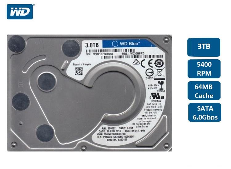 WD30NPRZ Western Digital 3TB Blue Hard Drive