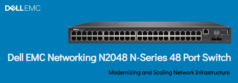 Dell 48-Ports Rack-mountable Managed Switch N2048