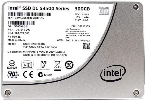 Intel DC S3500 Series 300GB MLC SSD SSDSC2BB300G4T