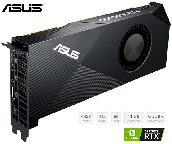 TURBO-RTX2080TI-11G ASUS GeForce RTX 2080 Ti Graphics Card