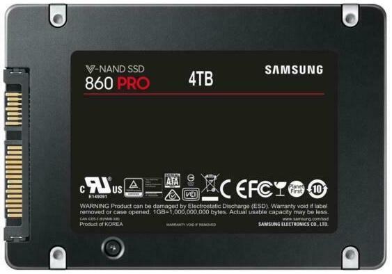 Samsung MZ-76P4T0BW 860 PRO Series 4TB MLC SATA Solid State Drive