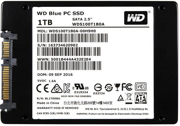 Western Digital WDS100T1B0A Blue 1TB SATA 6Gbps Internal Solid State Drive