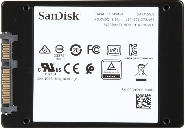 SDSSDH3-500G-G25 SanDisk Ultra 3D 500GB Solid State Drive