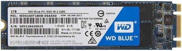 WD WDS100T1B0B Blue 1TB SATA 6Gbps M.2 2280 Internal Solid State Drive