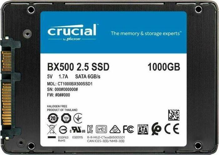 Crucial CT1000BX500SSD1 BX500 Series 1TB TLC SATA 6Gbps Internal Solid State Drive