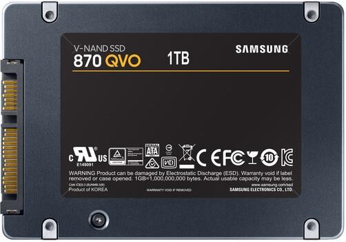 Samsung MZ-77Q1T0B/AM 870 QVO 1TB QLC SATA 6Gbps Internal Solid State Drive