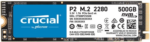 Crucial P2 Series CT500P2SSD8 500GB TLC Solid State Drive