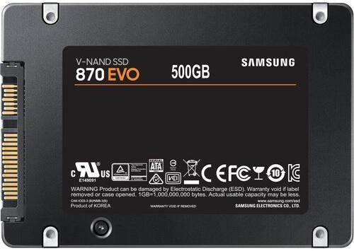 Samsung MZ-77E500BAM SSD 870 EVO Series 500GB Solid State Drive