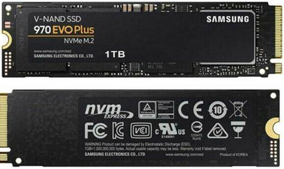 Samsung MZ-V7S1T0BAM 970 EVO 1TB NVMe Solid State Drive